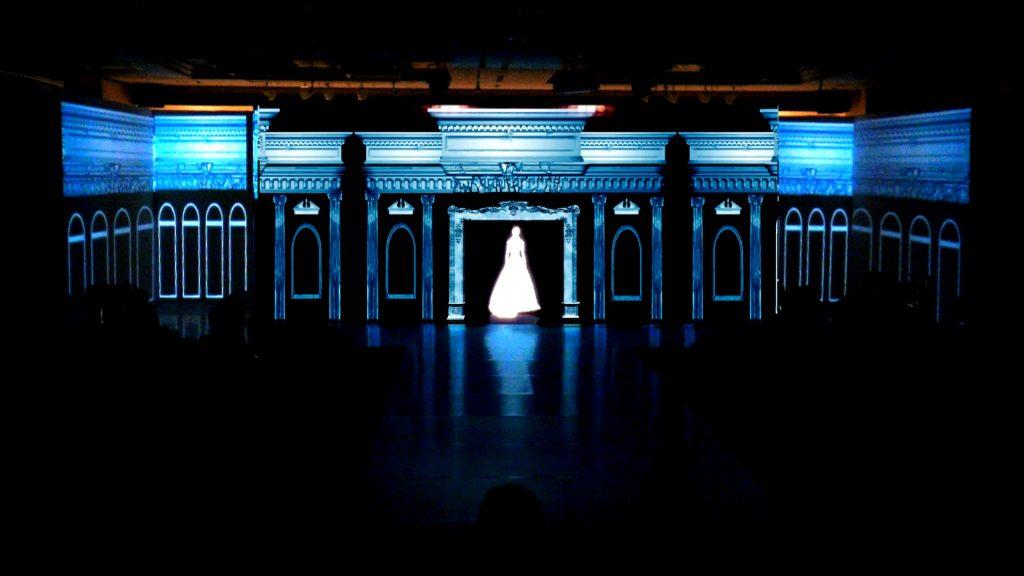 WEDDINGドレスショー演出プロジェクションマッピング